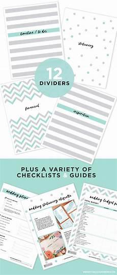 Wedding Planning Printables Free Printable Wedding Planning Binder Blog Botanical