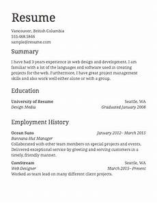 Create A New Resume Free Resume Builder Resume Templates To Edit Amp Download
