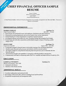 Chief Financial Officer Resumes Chief Financial Officer Resume Sample Job Resume Samples