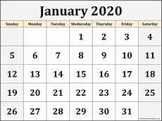 2020 Jan Calendar Jan 2020 Calendar Pdf January January2020