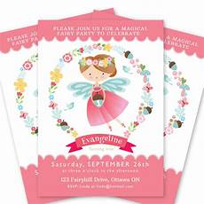 Fairy Party Invite Fairy Invitation Girl S Fairy Party Invite Printable
