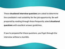 How To Answer Situational Interview Questions Job Interview Questions And Answers Situational