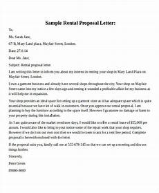 Business Lease Proposal Template Rental Proposal Letter Sample