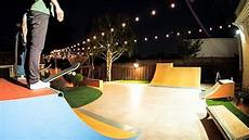 Skateparks With Lights Insane Backyard Skatepark Youtube