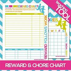 Chore Reward Chart Template Free Printable Kids Chore Amp Rewards Chart