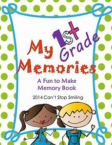 Gradebook Cover End Of Year Memory Book 1st Grade Books For First
