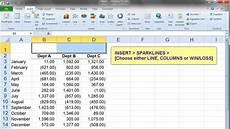 Charts And Graphs Microsoft Excel 2010 Microsoft Excel Help Sparklines Vs Charts And Graphs A