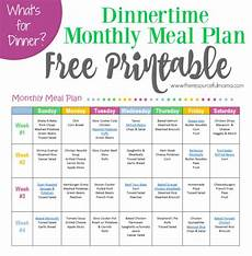 How To Meal Plan For A Month Monthly Meal Plan For Dinner Free Printable Meals Read
