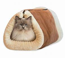 2 in 1 self heating warm cat pet bed tunnel portable