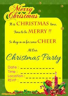 Invitation Letter Christmas Party Christmas Invitation Template And Wording Ideas
