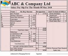Salary Format Excel Sheet Download Salary Sheet With Attendance Register In Single