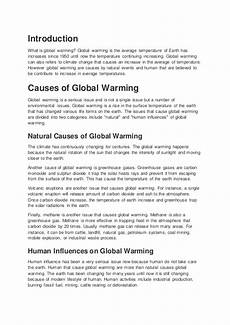 Causes And Effects Of Global Warming Essay Causes Effects And Solutions To Global Warming