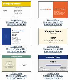 Ms Office Business Cards Microsoft Office Business Card Template