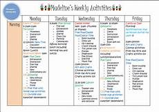 Weekly Activities Plan Learn With Play At Home Weekly Kids Activity Planner