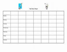 Blank Chore Chart 9 Images Of Free Printable Blank Chart Templates