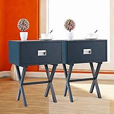 set of 2 sofa bed side end table nightstand