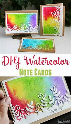 Water Color Cards Diy Watercolor Note Cards Step By Step Crafts Unleashed