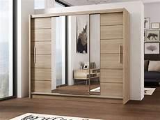 lizbona sliding door wardrobe oak and white luxurious