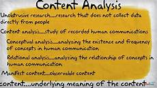 Content Analysis Example Content Analysis Youtube