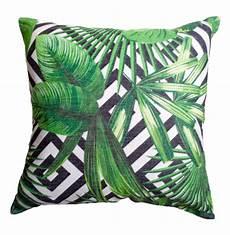 geometric and tropical palm leaf cushion covercombine your