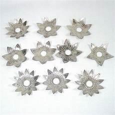 Tin Light Reflectors 1920s Diamond Ray Metal Punched Tin Christmas Light
