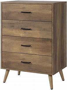 homecho 4 drawer dresser rustic wood chest of drawers for
