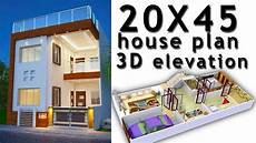 20x45 house plan with 3d elevation by nikshail