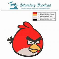 Angry Bird Designs Red Bird Angry Birds Embroidery Design Instant Download