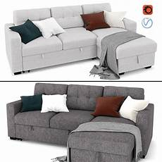 Sofa Bed 3d Image by 3d Model Tyson Sectional Sofa With Bed And Storage