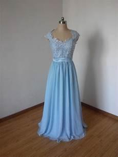 Light Blue Dress Cap Sleeves Cap Sleeves Sweetheart Light Sky Blue Lace Chiffon Long