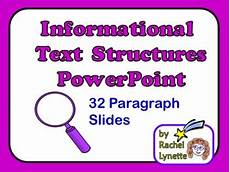 Informational Powerpoint Informational Text Structures Powerpoint By