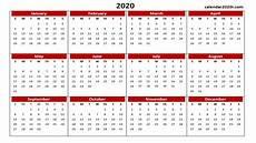 2020 Calendar Pdf 2020 Calendar Printable Template Holidays Word Excel