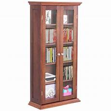 costway 44 5 wood media storage cabinet cd dvd shelves