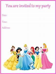 Disney Birthday Party Invitations Disney Princesses Birthday Party Invitation Kids