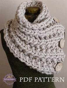 knitting pattern the lancaster scarf chunky button