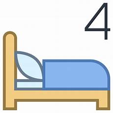 four beds icon free at icons8