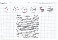 Graph Paper Art Step By Step Tangle Patterns Zentangle Patterns Tangle Patterns