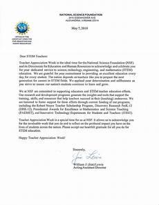 Letter Sample For Teacher Letter From Lewis Nsf For Teacher Appreciation Week