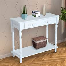 homcom 28 quot modern country two drawer wooden entryway