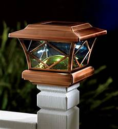 Outdoor Solar Post Cap Lights 50 Mission Solar Post Cap Lights On Fence Posts Or