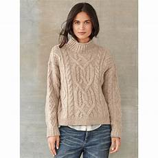 stricken pullunder rrl tessa cable knit wool sweater in lyst