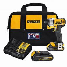 Dewalt Battery Charger Light Fast 20v Max Lithium Ion Cordless 1 4 Inch Impact Driver With