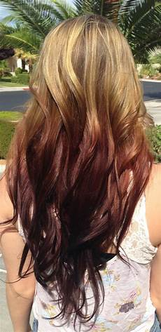 Red To Light Brown Hair Dirtbin Designs Reverse Ombre Hair Color