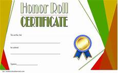 Honor Roll Certificate Templates Editable Honor Roll Certificate Templates 7 Best Ideas