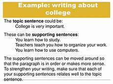 Examples Of Topic Sentences For An Essay Topic Sentences And Supporting Details Tutorial