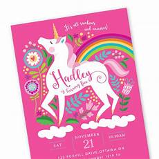 Diy Birthday Party Invitations Unicorn Birthday Invitation Printable Customized Diy