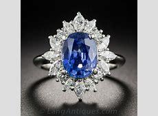 3.10 Carat Sapphire Platinum Diamond Ring