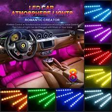 48 Interior Smart Lighting Kit Car Led Light 48 Leds Multicolor Music Car Interior