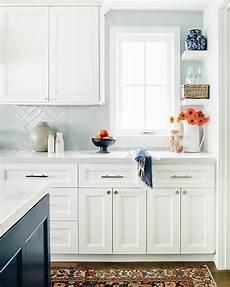 Light Blue Kitchen Tiles Light Blue Herringbone Tiles With White Cabinets