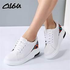 o16u sneakers fashion white platform shoes genuine